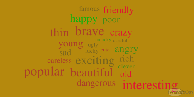 Adjective for Descriping People